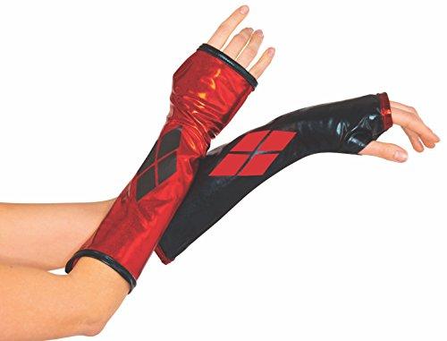 Rubie's Handschuhe wie von Harley Quinn, Kostüm-Zubehör für Erwachsene