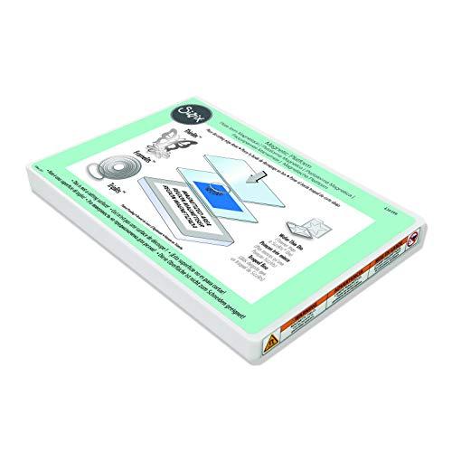Sizzix Piattaforma Magnetica per Fustelle Sottili 656499, Multicolore, Taglia Unica, Acciaio Inossidabile, Bianco, 22.5 x 16.6 x 1.6 cm