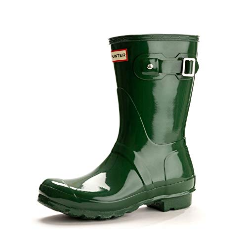 Hunter Women's Original Short Gloss Hunter Green Rain Boots - 6 UK 39 EU 8 US