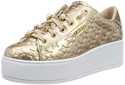 Guess NICKIES/Active Lady/Leather LI, Sneaker Donna, Bianco (White Nude), 40 EU