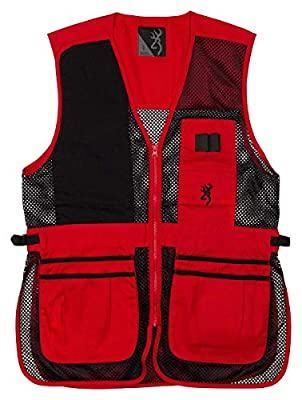 Browning Trapper Creek Shooting Vest-Red/Black (3XL)