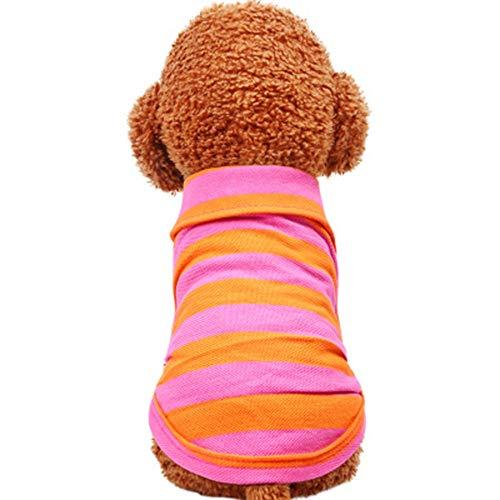 Traje de Mascota de Halloween For Mascotas Ropa for Perros Perro gneros de Punto del suter Suave Camiseta del Espesamiento Caliente Perros y Gatos Disfraces (Color : Rosado, tamao : S)