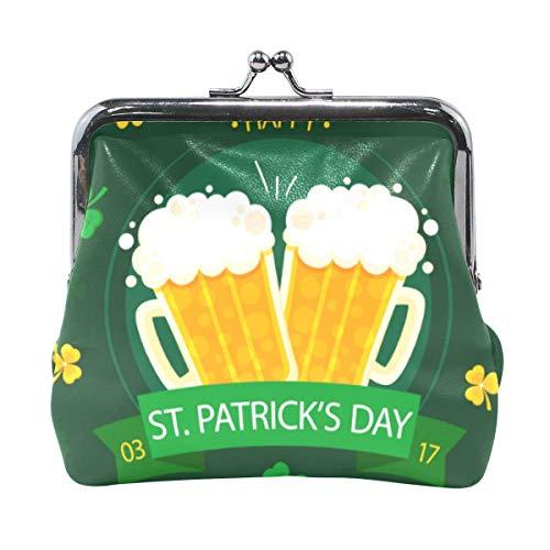 Muntentas Koppeling Vrouwelijke Portemonnee Cash Bag Card Change Houder Organizer Bier Klavers Patrick Dag