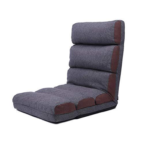 Bdesign Silla Sillón Silla Sillón Reclinable Sillón Ajustable Plegable Sofá Lazy Seis Sillas de Relajación Sillas y Juegos Sillas (Color : Grey)