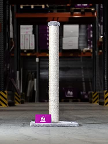 Petrebels Albero tiragraffi Maine 90 cm Cappuccino, con piastra di base extra stabile e tronco in sisal,