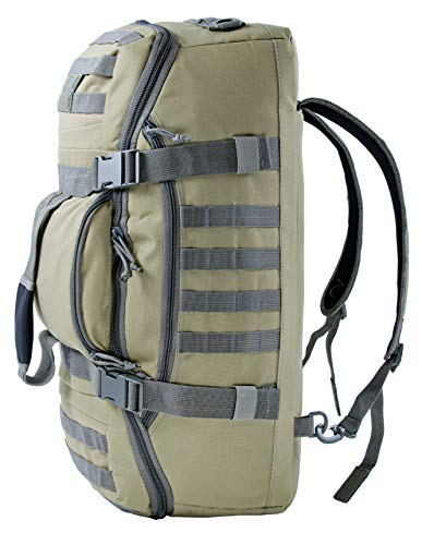 XMILPAX Military Duffle Backpack Bug-Out Bag Tactical Outdoor Gear Multi-Functional Weekend Bag Camping Backpack MOLLE Compatible. (Coyote/Foliage)