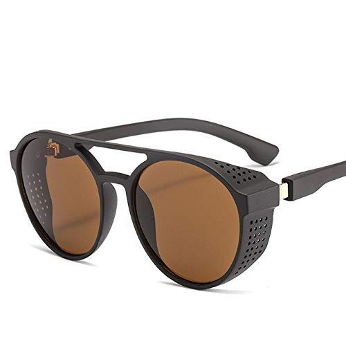 NIUASH Sonnenbrille polarisiert Brille Retro Nachtsichtfahrer Brille Runde Klappbrille Brille Vollbrille für Nachtfahrt-C