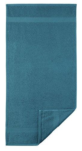 Egeria Diamant Gant de Toilette, Coton, Dark Turquoise, Waschhandschuh 15 x 21 cm