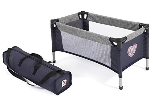 Bayer Chic 2000 652 26 Reisebett für Baby-Puppen, dunkelblau