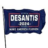 Cellova Desantis 2024 Flag Make America Florida Flag Ron Desantis for President Outdoor Banner with Brass Grommets 3x5 Ft