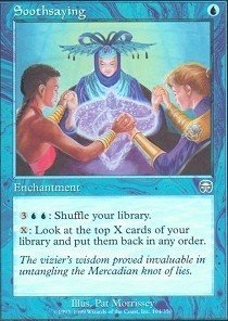 Magic The Gathering - Soothsaying - Mercadian Masques - Foil
