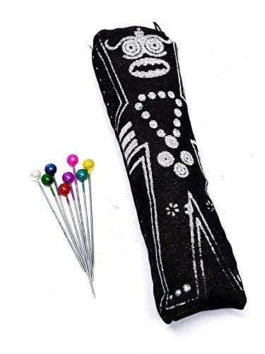 Eclectic Shop Uk Tahiti Aarde Poppet Voodoo Pop Echte Pins Zwarte Vodoun Magic Dark Arts Spirit (MUST lees details over het vullen)