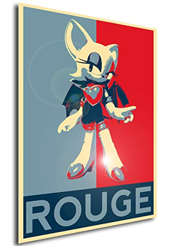 Instabuy Poster Propaganda Sonic Rouge A4 30x21