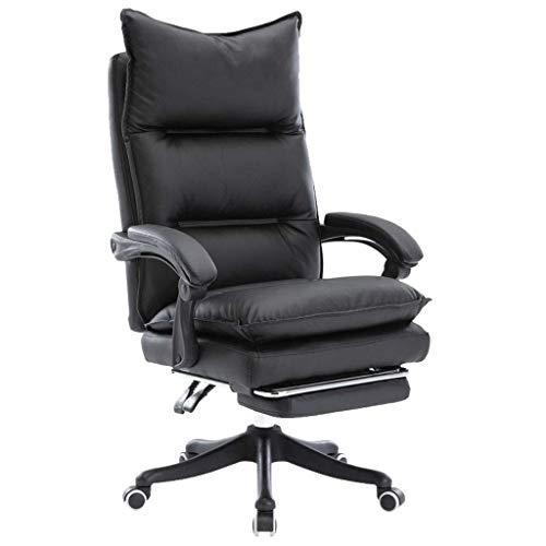 TUIHJA Ergonomischer Bürostuhl Schlafzimmer Rückenlehne Computerstuhl Executive Office Chair Drehstuhl Bürostuhl mit Belastbarkeit Frottee und Fußschemel Stilvolle Möbel