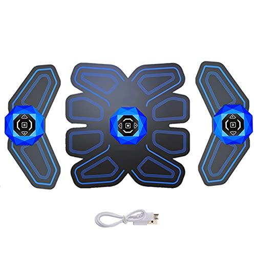 GoodWell Electroestimulador Muscular Abdominales Aparatos para Hacer Ejercicio casa,6 Modos, 10 Niveles Diferentes,ABS estimulador Muscular USB portátil para Mujer Hombre