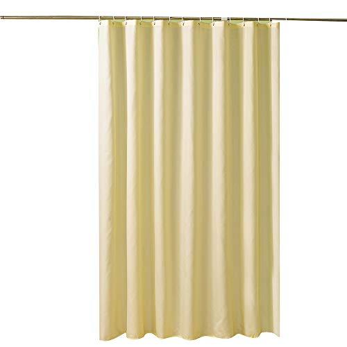 HUIHUAN Duschvorhang Mehltau Beständig Antibakterielle Plain Beige Polyester Duschvorhang Hotel Hotel Spezielle Duschvorhang Bad Wasserdicht Vorhang