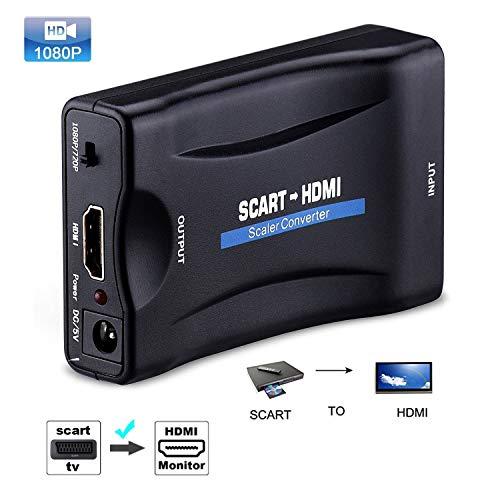 Adaptador de Audio para HDTV STB VHS Xbox PS3 Sky DVD CRT 1080P SCART a HDMI