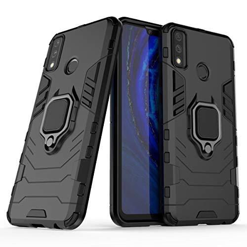 BAIYUNLONG Funda para Huawei Y8 S, funda para teléfono inteligente, anillo de rotación de 360 grados, funda para teléfono inteligente a prueba de golpes, cubierta para Huawei Y8 S (color negro)