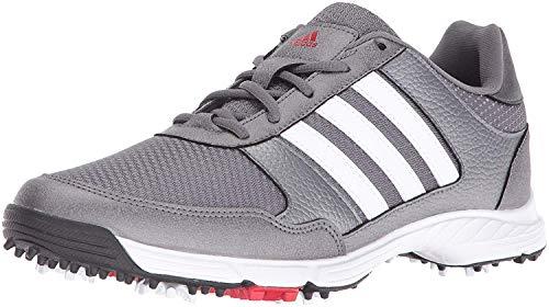 adidas Men's Tech Response Golf Shoe, Iron Metallic/White, 9.5 M US
