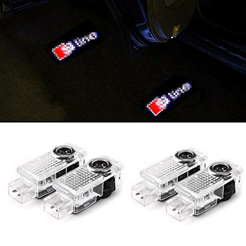 4 PCS Cool Design Autotür Logo Projektion Licht Türbeleuchtung Willkommen Licht (4PC)