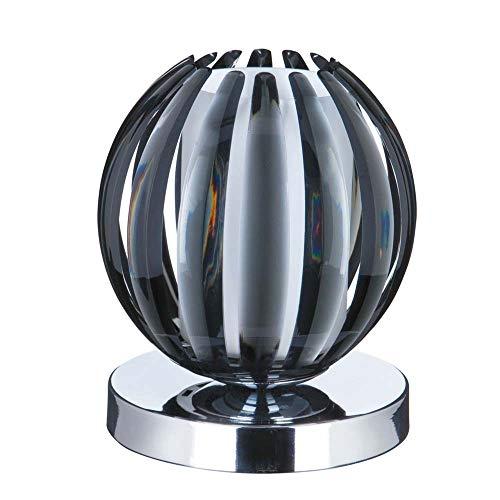 Claw Touch - Lámpara de mesa (cromo, acrílico ahumado, cristal opalino chapado en cromo)
