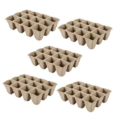 [5pcs] pots et des pots de Plantules fleurs de pâte sont écologiques et biodégradables [opp sac]