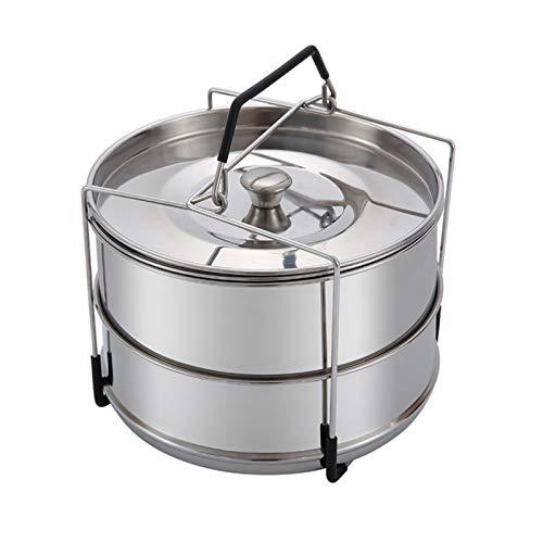 Buding Stapelbare Dampfgarer-Einsatzpfannen, 6QT-Einsätze Für Instant Pot, Pfanne Für Instapot, Zubehör Für Instant Pot, Passend Für 6 QT Und Höher, Schnellkochtopf-Zubehör
