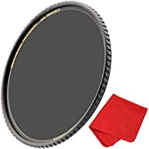 Breakthrough Photography 72mm X4 6-Stop ND Filter for Camera Lenses, Neutral Density Professional Photography Filter with Lens Cloth, MRC16, Schott B270 Glass, Nanotec, Ultra-Slim, Weather-Sealed