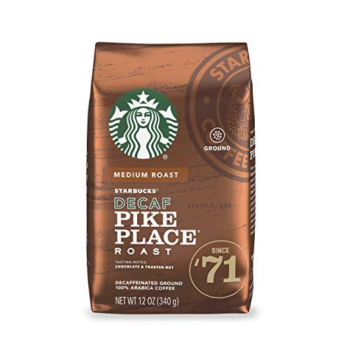 Starbucks Decaf Ground Coffee — Pike Place Roast — 100% Arabica — 1 bag (12 oz.)