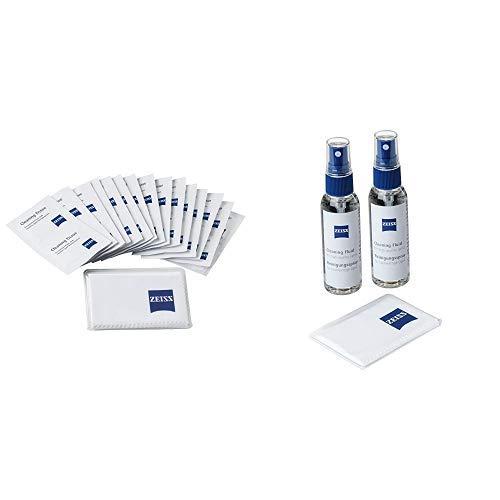 ZEISS Reinigungstücher – Reinigungstücher Set &  Reinigungsspray – Reinigungsspray für Objektive, Filter, Brillengläser, Ferngläser und LCD-Displays