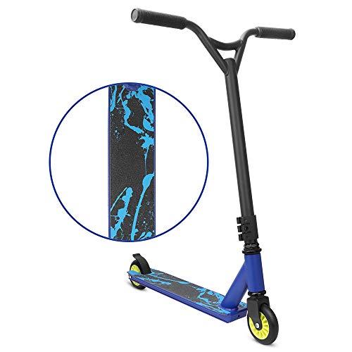YOLEO Stunt Scooter - Pro Scooter- Robuster Funscooter mit ABEC 7 Kugellagern, Kickscooter, Tretroller, Roller, Trick Roller für Kinder ab 6 Jahre für Erwachsene (Blau)