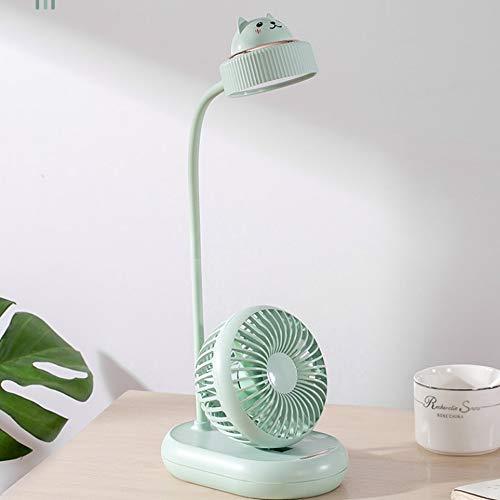 Lámpara De Escritorio LED, Protección para Los Ojos, Escritorio, Aprendizaje, Enchufe Recargable, Dormitorio De Cabecera De Doble Propósito Lámpara De Mesa con Ventilador Multifuncional