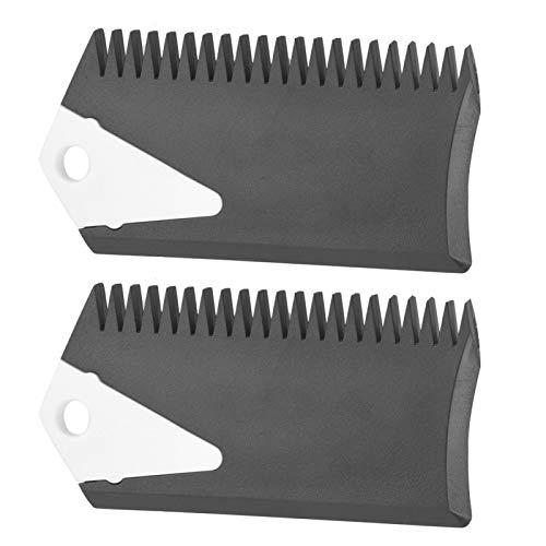 Yosoo Health Gear 2 unids/Set Peine de Cera para Tabla de Surf, Peine de Tabla de Surf de PVC y raspador para Tabla de Surf, Skimboard