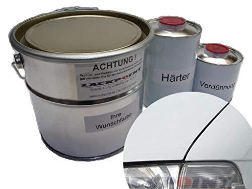 Lackpoint 1 Liter Set 2K Autolack für VW R902 Grauweiß kein Klarlack nötig Trend T4