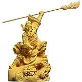 XXSHN Equipo de Vida CAI Shen 15CM Guan Gong hogar Estatua de Buda Guan Erye Oficina Creativa de Madera Tallado en Madera decoración Cuchillo Grande Guan Yu Dios de la Riqueza