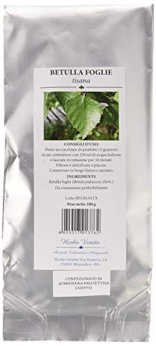 Herbo Veneta Betulla Foglie Tisana - 5 Confezioni da 100 G