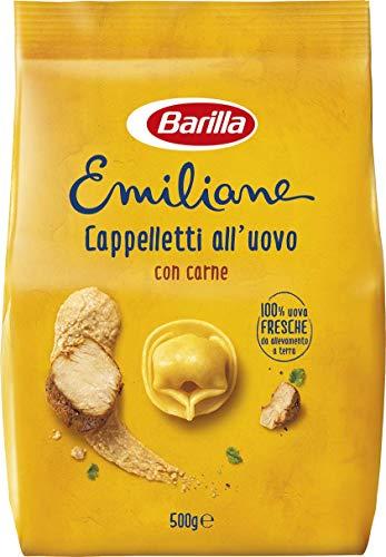 Barilla Pasta all'Uovo Ripiena Le Emiliane Cappelletti alla Carne, 500 g