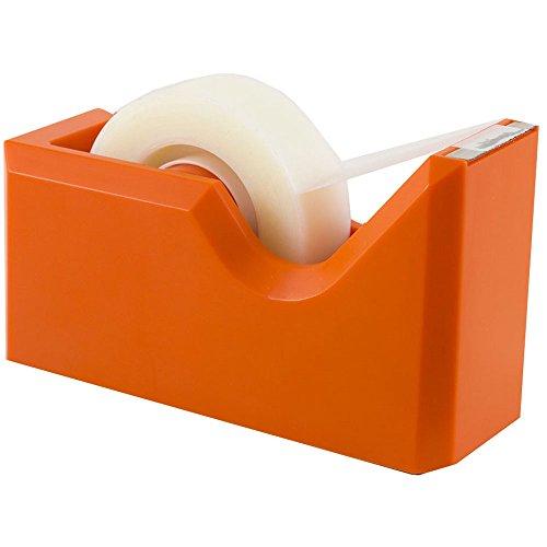 JAM PAPER Colorful Desk Tape Dispensers - Orange - Sold Individually