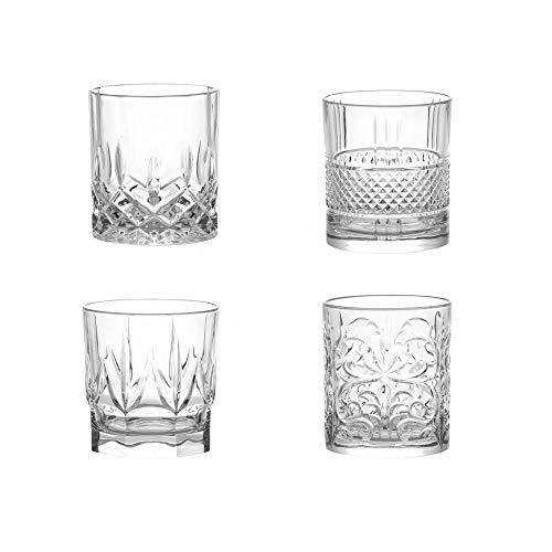 BRANDANI Spirits Set 4 Bicchieri Crystal Glass
