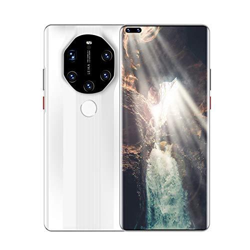 Teléfono móvil con pantalla de gota de agua de 6,8 pulgadas, red 5G, tarjeta dual, doble modo de espera, 8G + 128G 4000Mah, teléfonos Android, nuevos teléfonos inteligentes con visión nocturna y len
