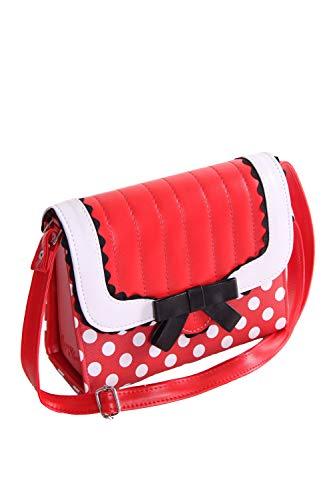 SugarShock Soranda Damen Handtasche Polka Dots, Farbe:rot weiss