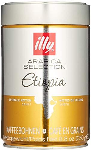 illy Kaffee, Espressobohnen der Arabica Selection aus Äthiopien - Verpackung mit 1 Dosen 250 g