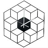 PXNH 35 X 40 cm Creative Iron Cube Horloge Murale Minuterie Montre À Pile Silencieux Horloges Murales Décor À La Maison Décoration - Échelle d'or 35 * 40 cm 3