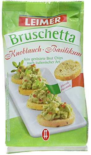 Leimer Bruschetta Knoblauch/Basilikum, 10er Pack (10x 150 g Beutel)
