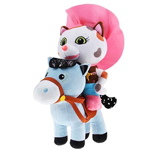 HJYAAA Plush Toys Soft Toys Sheriff Callie'S Wild West Cowboy Callie Cat Pony Horse Plush Toys Doll Stuffed Animals Toys For Kids Gift 25Cm