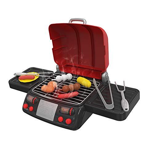 Mini barbecue de cuisine pour enfants, cadeau de jardin, jouet pour enfants (rouge)