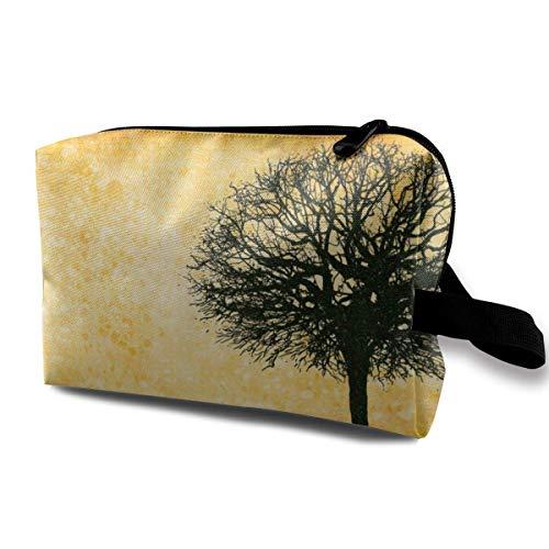 Tree Art Makeup Bags, Maletas de viaje Bolsas de maquillaje portátiles Organizadores de maquillaje