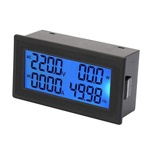 Voltímetro del medidor amperios digitales CA, 0~20A 60~500V LCD Función múltiple Frecuencia de potencia activa Indicador energía eléctrica, 6 en 1 Panel de monitor de energía de 4 dígitos