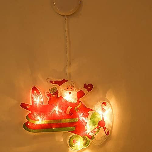 SpiceRack Luz LED Creativa Luz Colgante navideña para Ventana Tienda Ventosa Luces Colgantes Adornos navideños Lámpara Kit de Diamantes Hogar Año Nuevo Suministros decoración para Fiestas navideñas