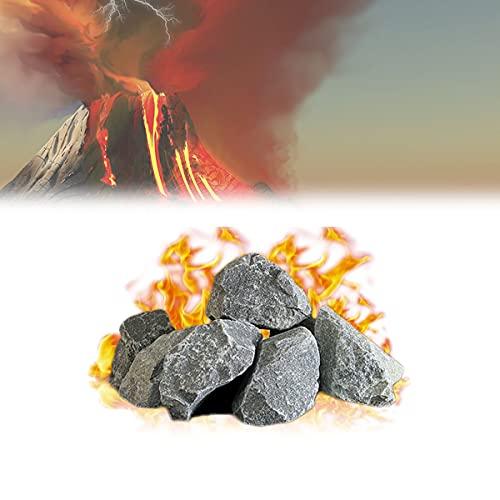 YCRD Piedra Volcánica para Sauna, Piedras Lava Piedra para Sauna, Velocidad Calentamiento Rápida, Anti-Quema y a Prueba Explosiones para Uso En Hogares Vapor Suave, Hoteles, Spas